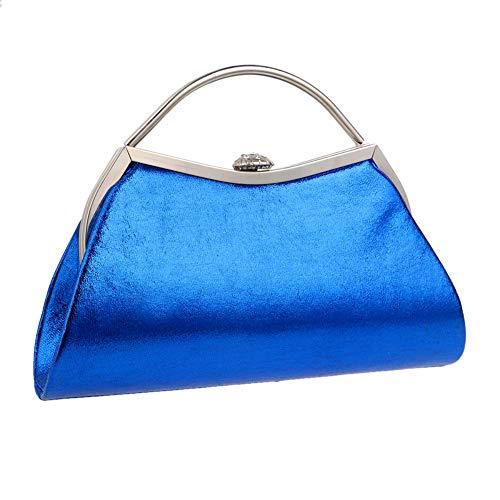 Bridal Womens Purse Chain Lipstick Blue Handbags Dress Key Bags Clutches Evening Shoulder FfTnWvqBB