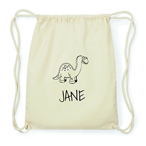 JOllipets JANE Hipster Turnbeutel Tasche Rucksack aus Baumwolle Design: Dinosaurier Dino ZhRwCp4