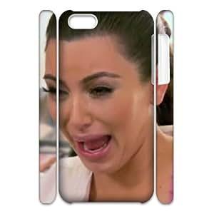 HUS35548 Custom Protective Hard 3D Plastic Case with Kim Kardashian for Iphone 5C at Hushell