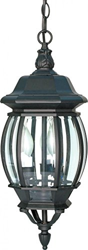 (Nuvo Lighting 60/896 Three Light Hanging Lantern, Black)