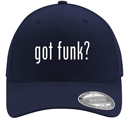 got Funk? - Adult Men's Flexfit Baseball Hat Cap, Dark Navy, Small/Medium