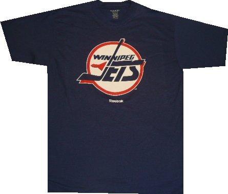 Winnipeg Jets Reebok Throwback Vintage T Shirt (XL)