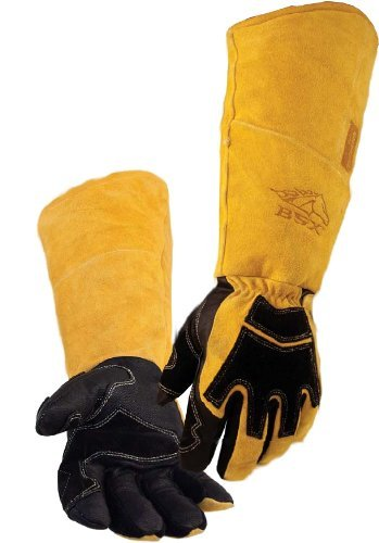 REVCO BSX Premium Pigskin/Cowhide Back Long Cuff Stick Welding Gloves BS99 - L