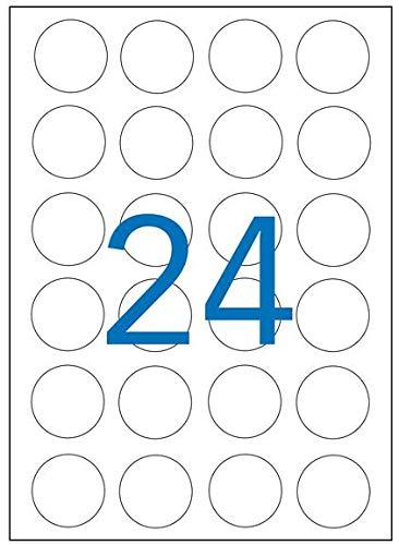 Plata di/ámetro 40/mm redondo Agipa 12975/tipo Cartel de etiquetas