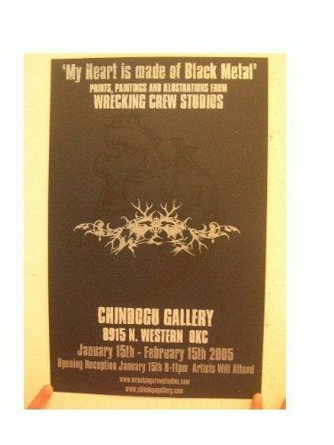 My Heart Is Made Of Black Metal Poster Wrecking Crew Studios Silkscreen