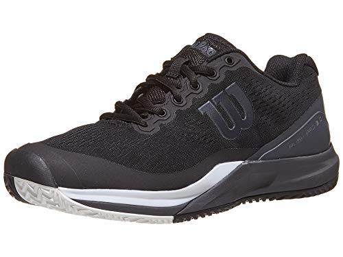 Wilson Rush Pro 3.0 Mens Tennis Shoe - Black/Ebony/White - Size 10.5
