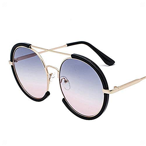 Sunglass Fashion Sunglasses Big Round Frame Can Be Equipped with Myopia Retro Sunglasses UV Glasses, (Color : Lila) (Lila Frame Oakleys)