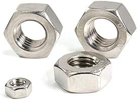 Luchang M1 M1.2 M1.4 M1.6 M2 M2.5 M3 M4 M5 M6 o M8 diferentes tipos de tuercas de tornillo de acero inoxidable m/étrico rosca hexagonal tuercas hexagonales tuercas m/étricas plateado