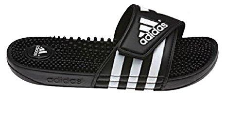 adidas Women's adissage Slide,Black/Black/Running White,8 M US