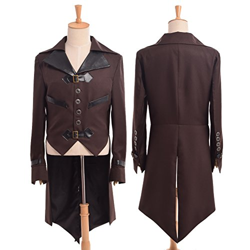 Blessume Victorian Steampunk Coat (Steampunk Clothing Men)