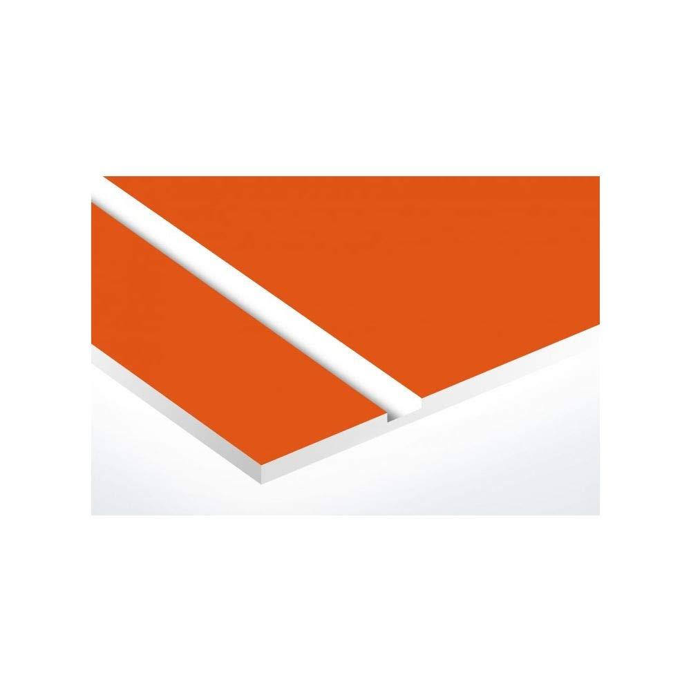 gris argent chiffres noirs 70x50mm Num/éro pour boite aux lettres personnalisable rectangle format m/édium