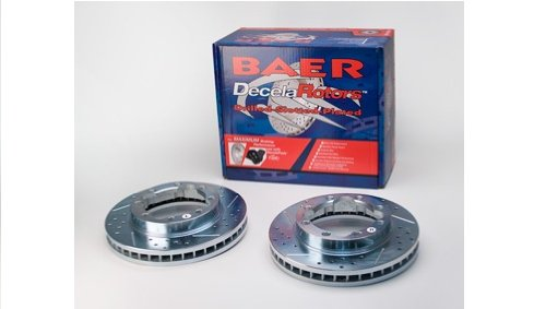 BAER 55028-020 Sport Rotors Slotted Drilled Zinc Plated Front Brake Rotor Set - Pair