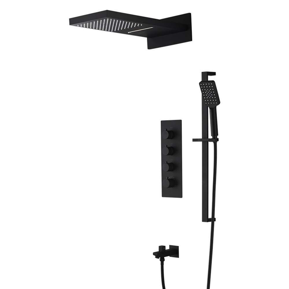シャワー蛇口高級シャワーシステムスイッチ多層電気メッキプロセスシャワーヘッド壁掛けシャワーシステム B07R4V6B3L
