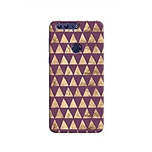 Cover It Up - Brown Purple Triangle Tile Honor 8 Hard Case