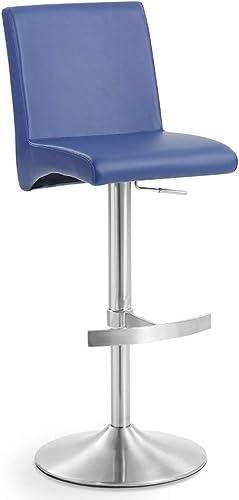 Zuri Furniture Modern Coveteur Adjustable Height Swivel Bar Stool