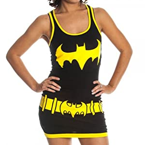 - 41PVySgt7oL - DC Comics Batgirl Juniors Black Costume Tank Top Dress