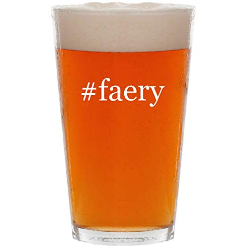 - #faery - 16oz Hashtag All Purpose Pint Beer Glass