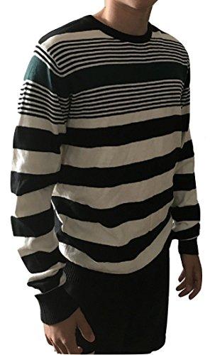Zara - Jerséi - Rayas - para Hombre Mehrfarbig - Black, White, Green Medium: Amazon.es: Ropa y accesorios