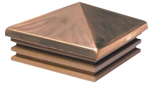 Woodway Products 870.1824 4-by-4-Inch Cedar Mission Pyramid Post Cap, 12-Pack, Copper