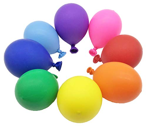 Hiller Rainbow Party Balloons 12 inches (100 pack) | Assorted Colors Bright Colorful Thick Latex Balloon | Party supplies Decorations Balloon Arch Unicorn Party Gender Reveal