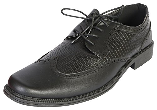 Samuel Joseph Mens Classic Oxford Wingtip Dress Shoe, Black, Size 10 D(M) US'