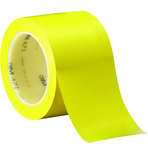 "3m T9684713pky Vinyl Tape, 3"" X 36 Yd, Yellow (Pack Of 3)"