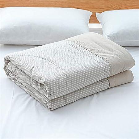 towells Edredón de algodón japonés Lavado en Primavera y otoño, edredón Fresco de Verano 200 x 230 cm (Alrededor de 3,3 kg), Tiras de arroz: Amazon.es: Hogar