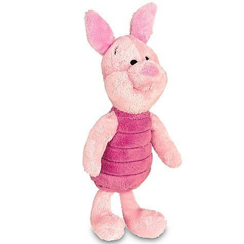 7' Toy Plush Stuffed (Disney Piglet Plush Mini Bean Bag Toy -- 7'')