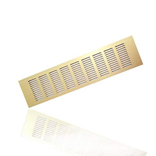Gold 120 x 500mm Aluminium L/üftungsgitter Stegblech L/üftung Alu-Gitter Gitter M/öbelgitter M/öbell/üftung
