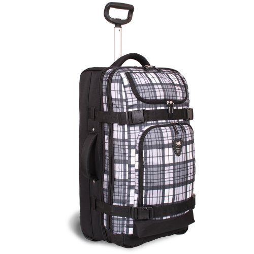 j-world-new-york-vinewood-rolling-duffel-tartan-grey-one-size
