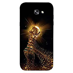 ColorKing Samsung A5 2017 Football Black Case shell cover - Fifa Cup 18