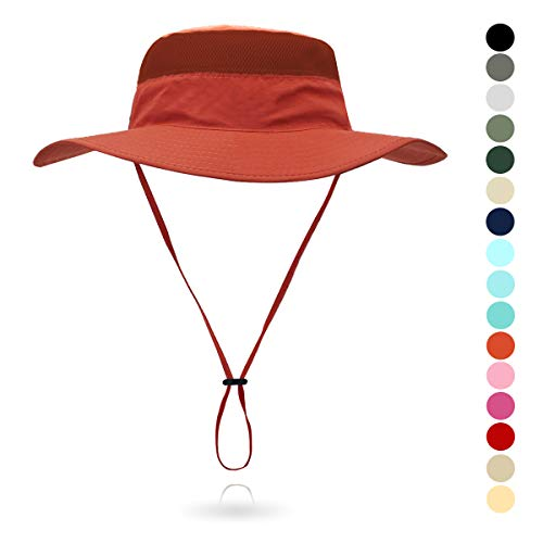 - belababy Outdoor Sun Hat Quick-Dry Breathable Mesh Hat Camping Cap Orange Red