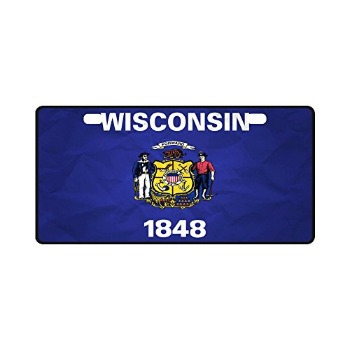 68540b4d4aa44 Buy Wisconsin State Flag License Plate products online in Oman ...