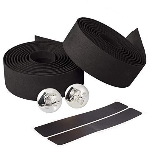 Limiwulw Handlebar Tape Bicycle Road Bike Sport Gym Cork Grip Wrap Ribbon Tape & Bar Plug