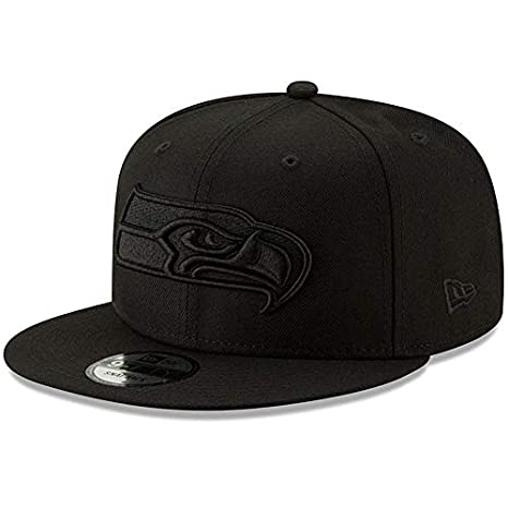 d6566699091 Image Unavailable. Image not available for. Color  New Era Seattle Seahawks  Hat NFL Black ...