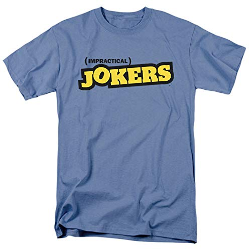 Logo Carolina Blue T-shirt - Popfunk Impractical Jokers TruTV Logo Carolina Blue T Shirt (X-Large)