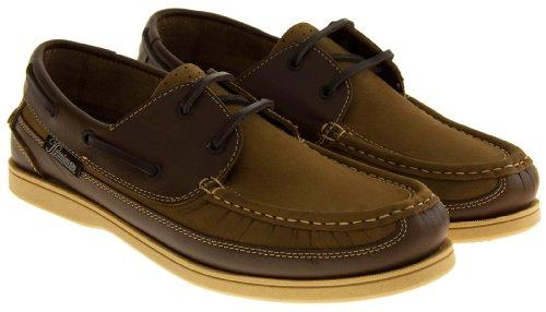 Footwear Studio - Náuticos de forro: fibra sintética para hombre blue/brown/dark brown/navy/navy blue/tan marrón - canela