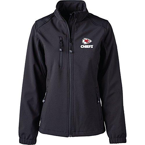(Dunbrooke Apparel NFL Kansas City Chiefs Women's Softshell Jacket, Large, Black)