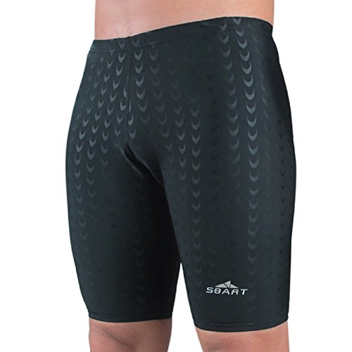 Fastskin Racing Swimwear (SBART Men's Solid Sexy Fastskin Style racing Competition Jammer Swim Suit Shorts Trunks)
