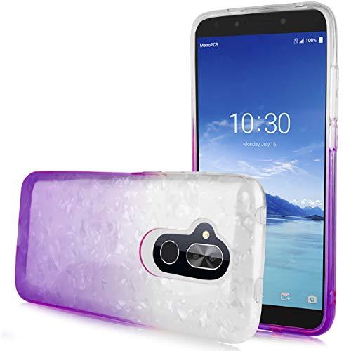 for Alcatel 7 ACTL6062 / Alcatel Revvl 2 Plus (2018) / Alcatel Folio, Clear Gradient Glitter Sparkle TPU Case Protector for Girls Cute Case - Camo Ipod Lifeproof Case 4