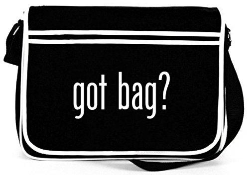 Shirtstreet24, Got Bag? Retro Messenger Bag Kuriertasche Umhängetasche Schwarz