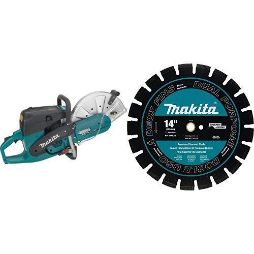 Makita EK7301 14-Inch 73 cc Power Cutter with T-01270 14-Inch Diamond Blade, Segmented, Dual Purpose
