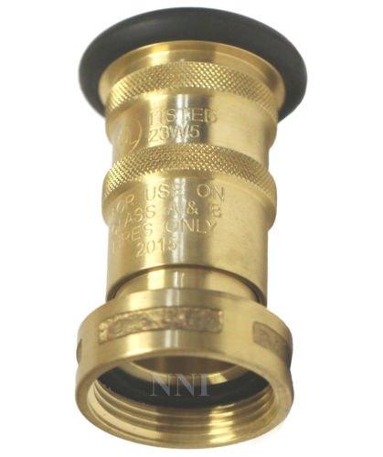 Brass Bronze Fire Hose Fog Nozzle NNI 1-1/2