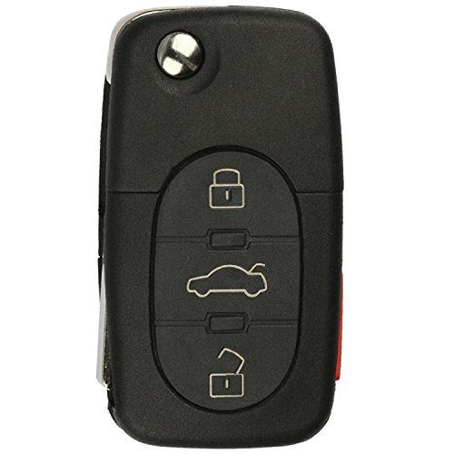KeylessOption Keyless Entry Remote Control Car Key Fob Replacement for 4D0837231E, 4D0837231P, MYT8Z0837231