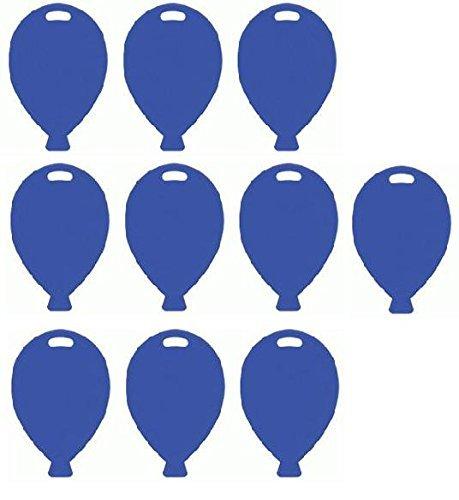 Blue Plastic Balloon Shaped Weights - Pk of 10 Oak Tree UK