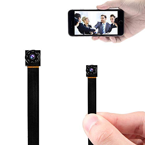 Prompt Mini Hidden Camera WiFi Small Portable Spy Camera Wireless Nanny Camera Indoor Video Recorder HD 1080P Home Monitoring Security Cam with Cell Phone iPhone App ()