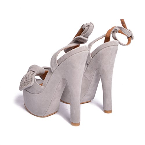 JEFFREY CAMPBELL Bow Down Suede Light Grey