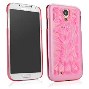 BoxWave Galaxy S4 RazMaDaz Case - Slim-Fit Ultra Lightweight Transparent Clear Hard Shell Case with 3D Faceted Gemstone Texture Designed for Galaxy S4 (Cosmo Pink)