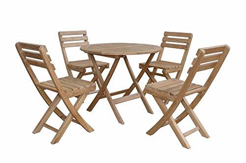 Anderson Teak SET-226 - Dupione Cornsilk Chester Alabama Bistro Furniture Set, Dupione (Alabama Silk)