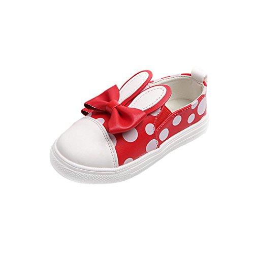 Schuhe Baby Freien Turnschuh Kleinkind im beiläufige Kaninchen nette Schuhe Hunpta Rot wXxO0qA0